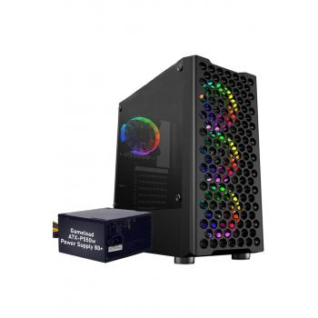 Gamecase Phantom 4x120 mm Rainbow Fanlı Oyuncu Kasası + 550w 80+ Psu - 8318