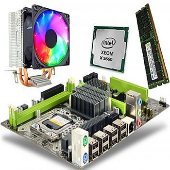 X5660 3.20GHz işlemci + Turbox x58 Anakart +16GB ECC Ram + Snowman M200 Rainbow Fan