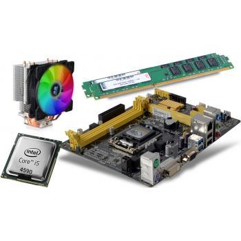 İ5 3,70GHz işlemci +Asus H81M-K Anakart + 16GB Ram + Snowman T4 RGB Fan