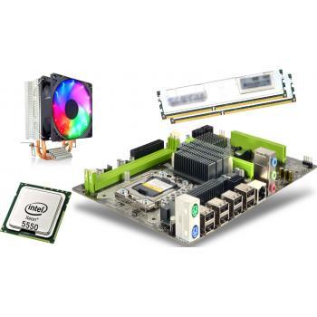 x5550 2.66GHz işlemci +Turbox x58 Anakart + 16GB Ram + Snowman M200 Rainbow