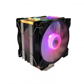 Snowman Am4 Aparatlı T5 CPU Soğutucu Fan RGB Light Board Çift Fan