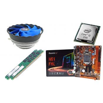 BD20 İ32100 işlemci + Esonic H61 Anakart + 4+4 8GB Ram + Snowman M120 Cpu