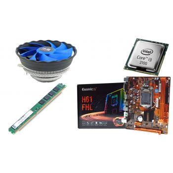 BD10 İ32100 işlemci +Esonic H61 Anakart + 4GB Ram + Snowman M120 Cpu