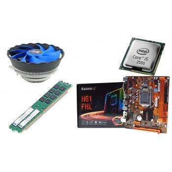 BD40 İ52500 işlemci + Esonic H61 Anakart + 4+4 8GB Ram + Snowman M120 Cpu