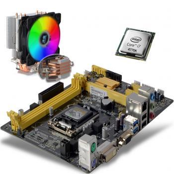 i7 4770K 3.90GHz işlemci + Asusu h81 Anakart + Snowman T4 Fan  RGB Light Board