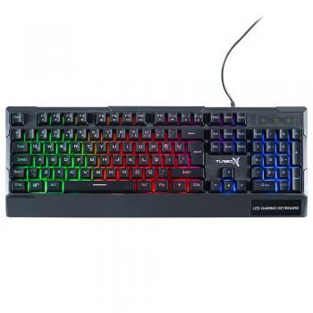 Turbox Paddock TR-K115 USB Kablolu Rainbow Gaming Standart Q Rainbow Aydınlatma Klavye
