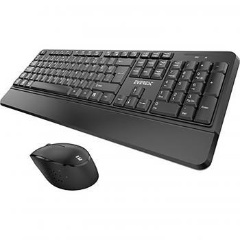 Everest KM-6176 OFFICAL Siyah Kablosuz Combo Q Multimedia Klavye + Mouse Set