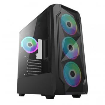 Gamecase Blaster  4x120 mm Rainbow Fanlı Oyuncu Kasası - 8010