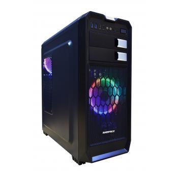 rampage 66s siyah 2* usb3.0 2*usb2.0 2*12cm rainbow fan kasa