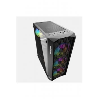 Mastergame AnQa 4x12 RGB Fan Tempercam USB 3.0 ATX Kasa