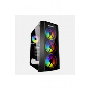 Mastergame Pusat 4x12 RGB Fan Tempercam USB 3.0 ATX Kasa