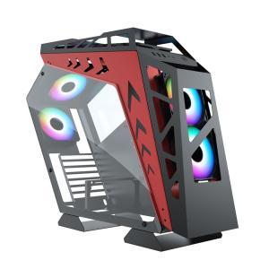 Dragos Robotic 600W Kırmızı - Siyah Gaming Oyuncu Bilgisayar Kasası Fan Hariç