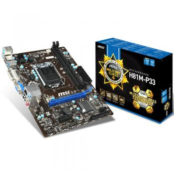 Msi H81M-P33 Intel H81 Soket 1150 DDR3 1600 Micro ATX Anakart